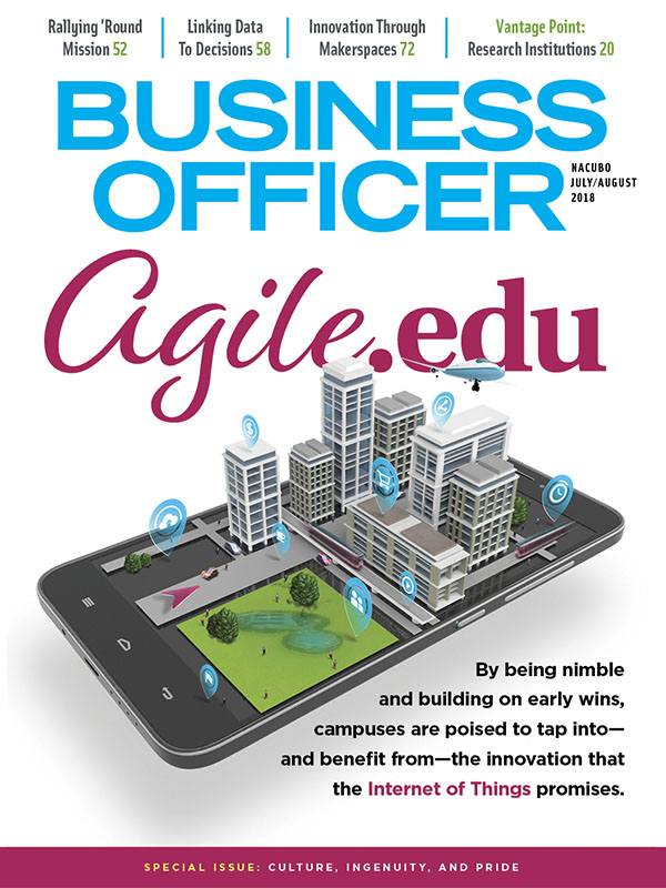 Cover from the latest issue of Business Officer Magazine